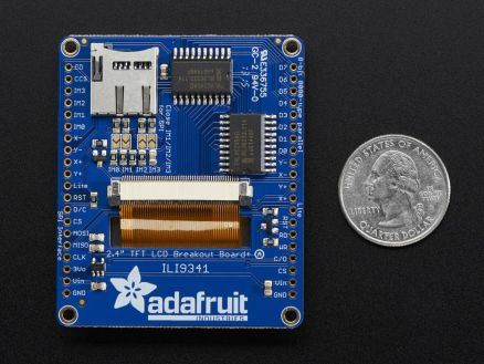 "Adafruit 2,4/"" TFT LCD display with touchscreen Breakout W microSD socket af2478"