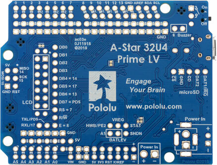 Pololu A-Star 32U4 Programmable Controllers Robot Controller Prime LV//SV PO00001