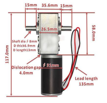V-TEC 24V 6mm Bürstenlose DC Motor Gleichstrom Turbine Getriebe Motor 12 RPM