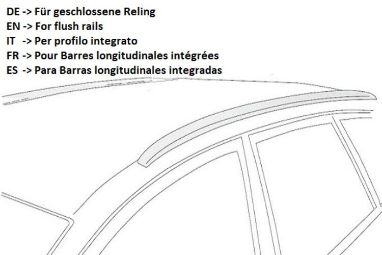 NORDRIVE Design Dachträger Snap Stahl Dach Träger für Opel Astra J Sports Tourer