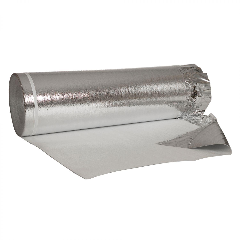 50m² alu-trittschalldämmung mit dampfsperre/dampfbremse für laminat