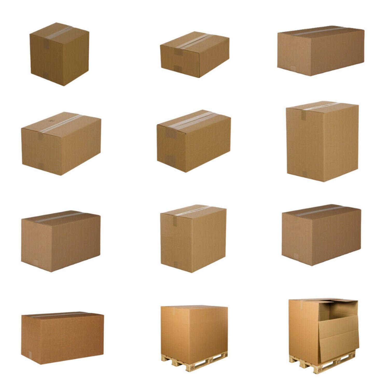 5 Faltkartons 500 x 400 x 800 mm 2-wellig Karton BC 590 g Braun Verpackung TOP