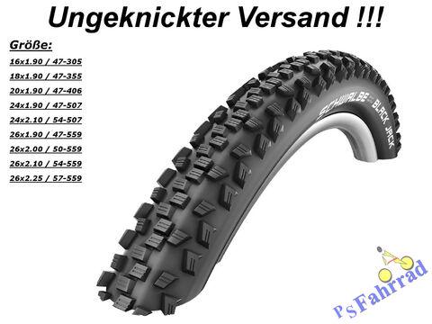 """12/""""-26/"""" alle Größen Schläuche 2 Stück Schwalbe Black Jack Fahrrad Reifen"""