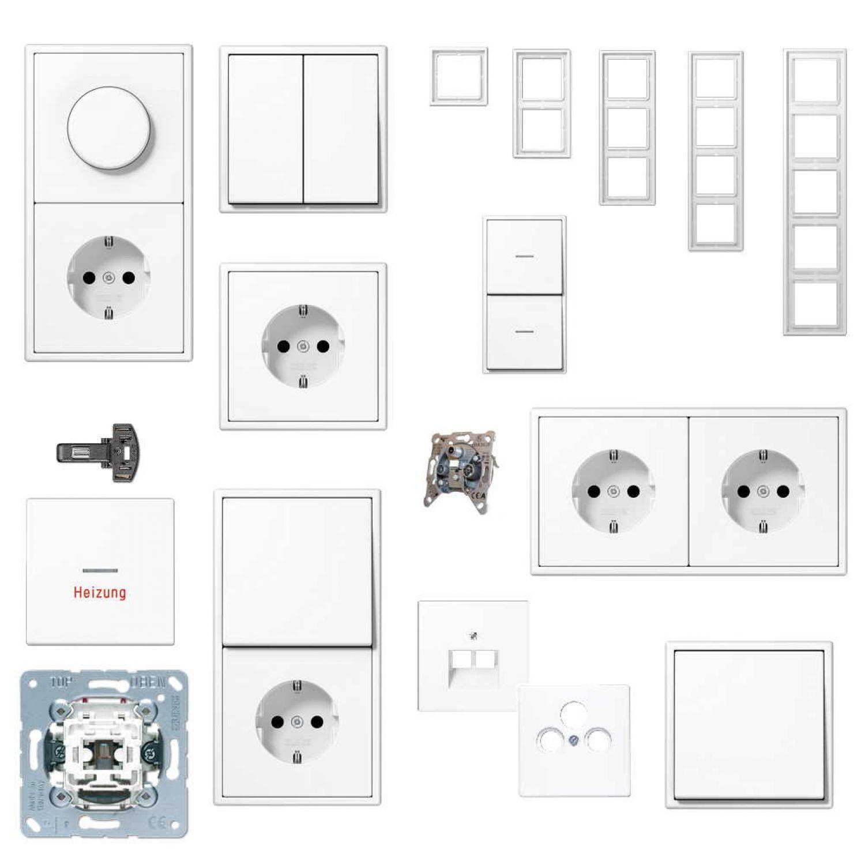 jung schaltermaterial auswahl serie ls rahmen ls 990 alpinwei ebay. Black Bedroom Furniture Sets. Home Design Ideas