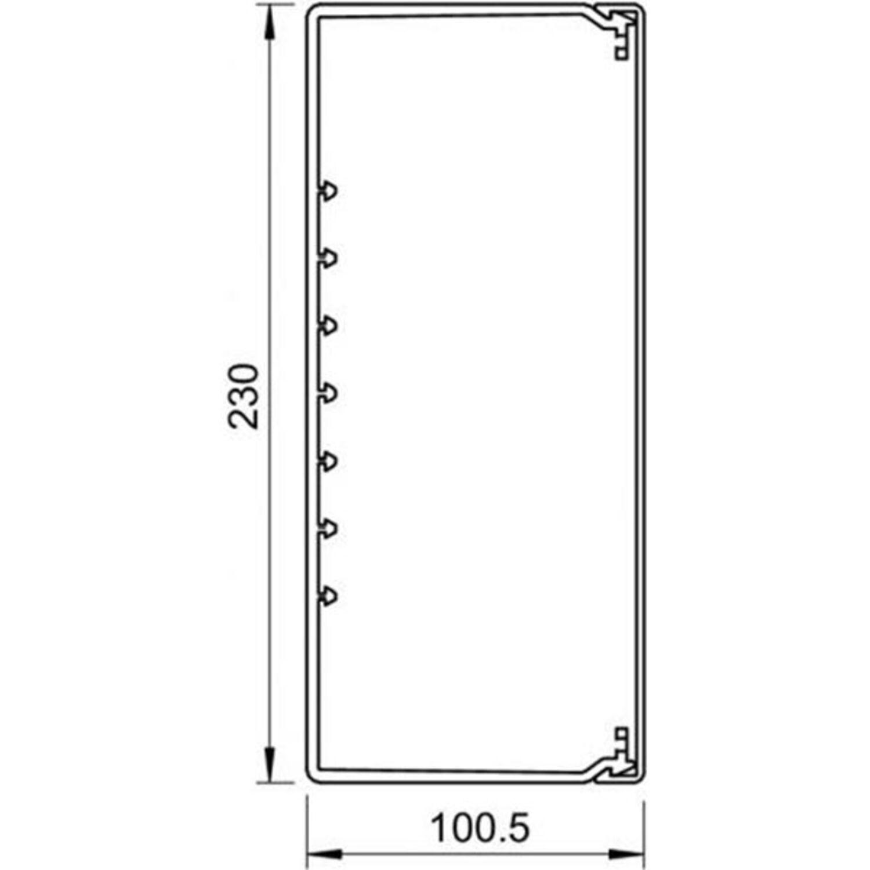 OBO Bettermann Wand-//Deckenkanal WDK 100230 100x230x2000mm lichtgrau