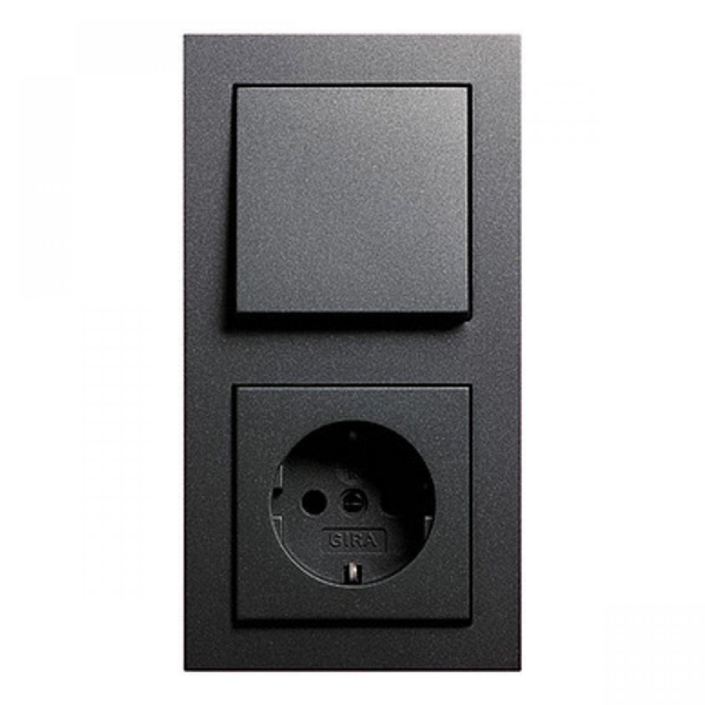 gira schaltermaterial auswahl system 55 rahmen e2. Black Bedroom Furniture Sets. Home Design Ideas