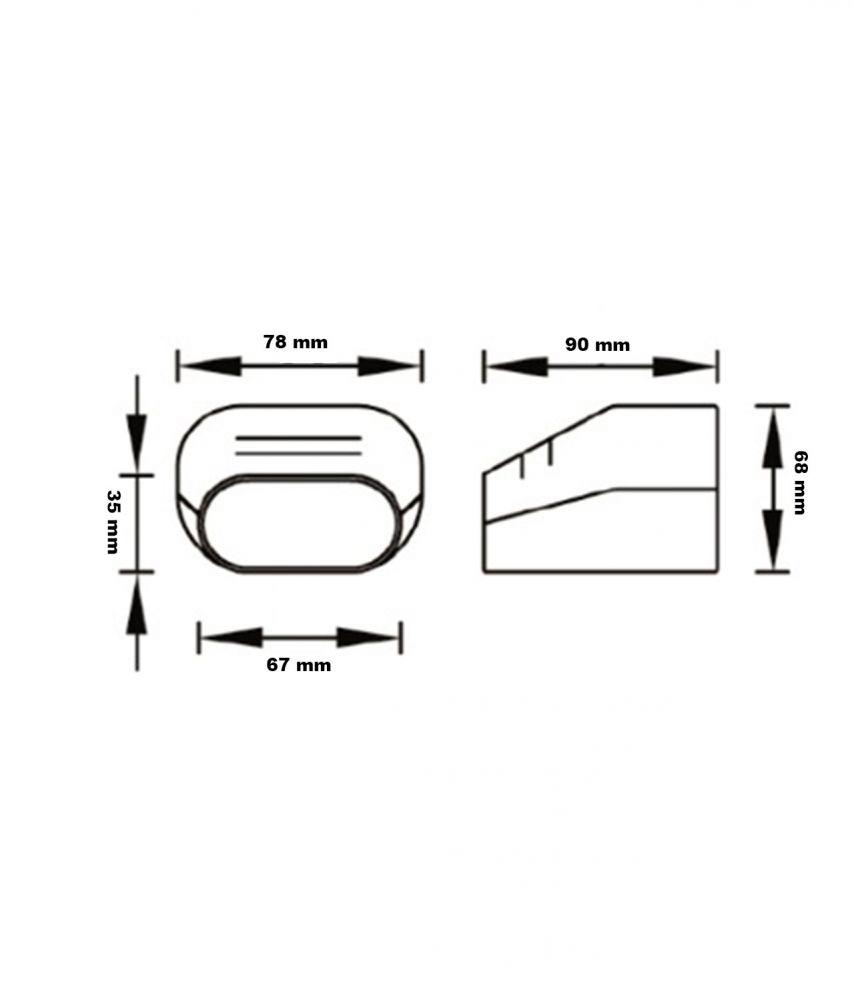 Rohrausgangendstück TS 72 EXC für Kanal Klimaanlage Kabelkanal