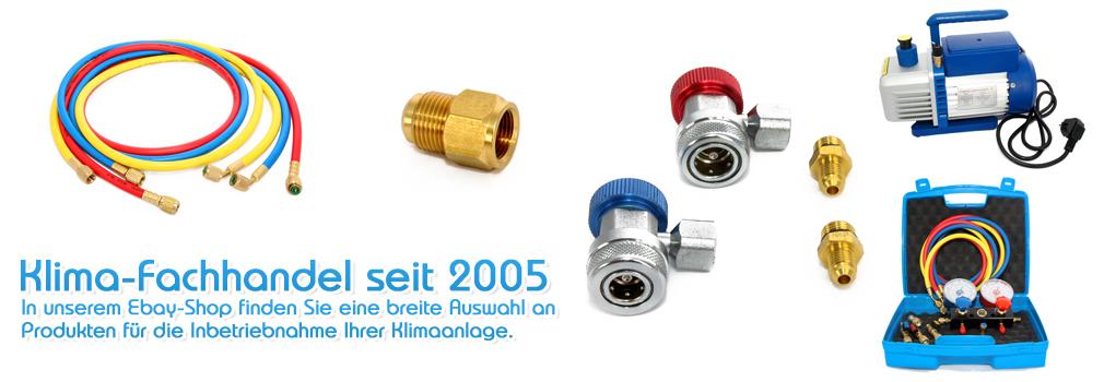 Ventil und Schlauch F/üllset f/ür K/ältemittel R407c