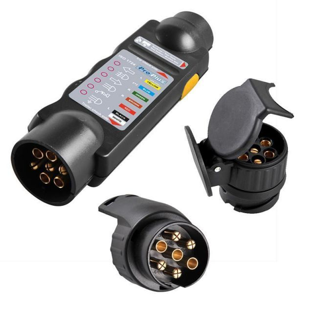 Tester Anhänger Prüfgerät 7 + 13 Polig Steckdose Beleuchtungstester ...