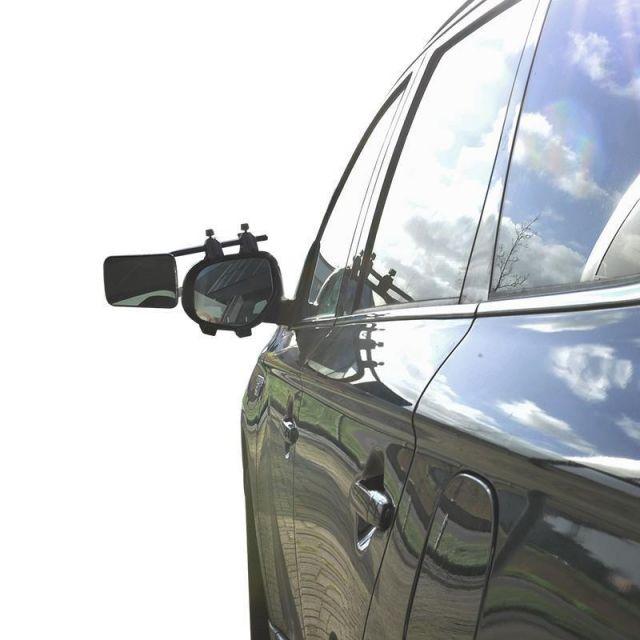 2 Stück Caravanspiegel DeLuxe Wohnwagenspiegel Spiegel Universal Aufsetzspiegel