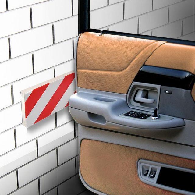 2 pi ces porte de voiture bande protection pour garage 40x16x2cm prot ge porte ebay. Black Bedroom Furniture Sets. Home Design Ideas