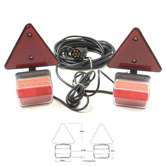 LED R/ückleuchten Set 7 polig Magnet verkabelt 12V 24V PKW Anh/änger Beleuchtung