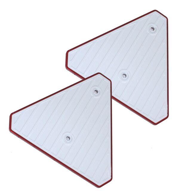 schrauben Anhänger Dreieckrückstrahler rot 4 x Seitenstrahler Reflektor gelb z