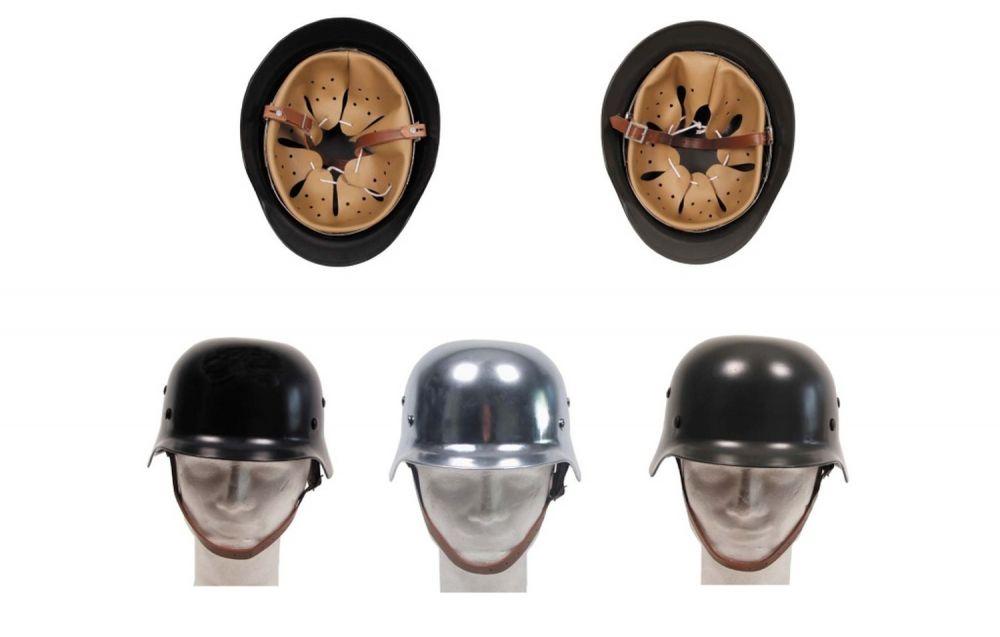 MFH casco de acero WW II con cuero-parte interior