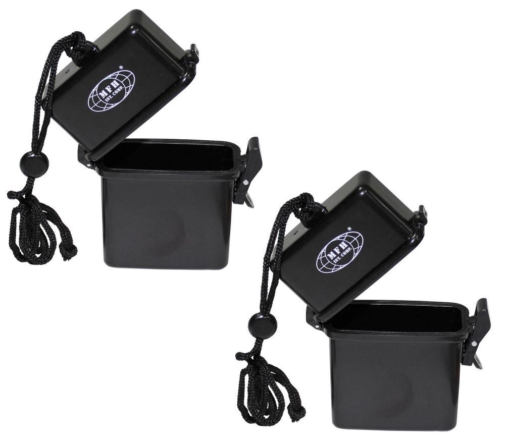 2x kleine wasserdichte box kunststoff aufbewahrungsbox schachtel ebay. Black Bedroom Furniture Sets. Home Design Ideas