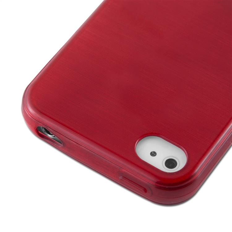 Custodia-Cover-Silicone-per-Apple-iPhone-4-4S-TPU-Case-Effetto-Acciaio miniatura 24