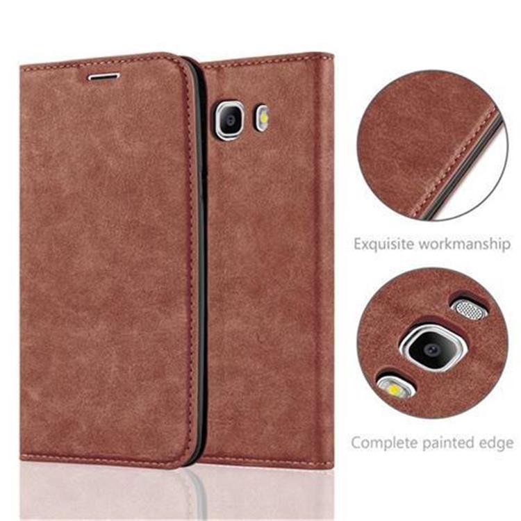 Custodia-per-Samsung-Galaxy-J7-2016-Portafoglio-Cover-Case-Magnetica-Libro miniatura 6