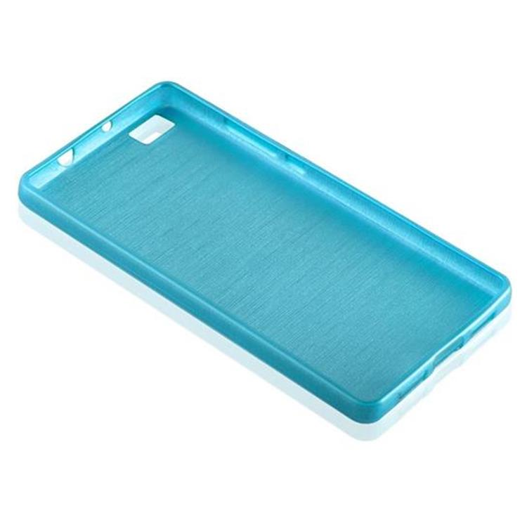 Custodia-Cover-Silicone-per-Huawei-P8-LITE-2015-TPU-Case-Effetto-Acciaio miniatura 19