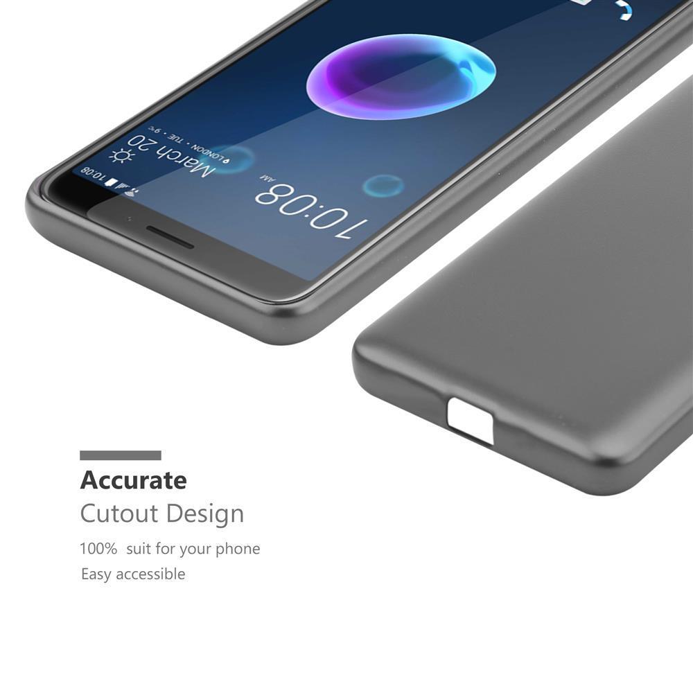 Custodia-Cover-Silicone-per-HTC-Desire-12-TPU-Case-Metallico-Opaco miniatura 17
