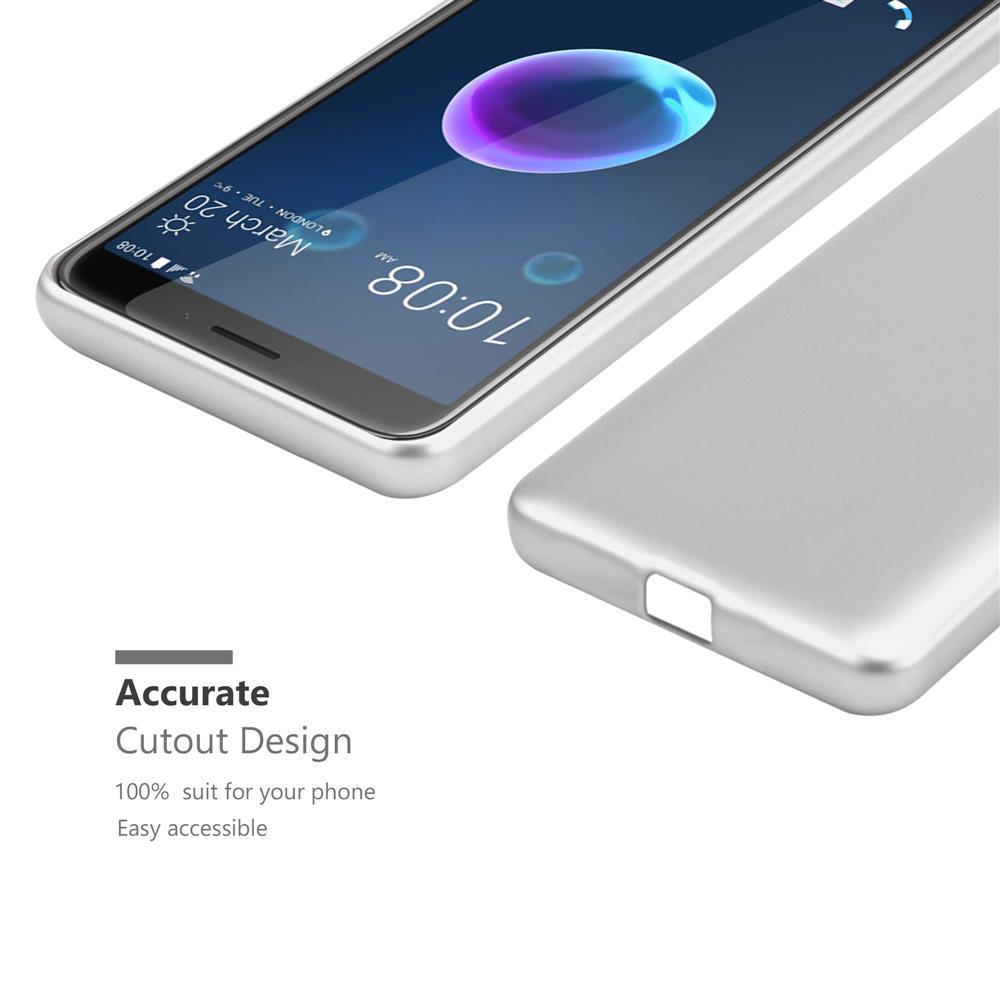 Custodia-Cover-Silicone-per-HTC-Desire-12-TPU-Case-Metallico-Opaco miniatura 32