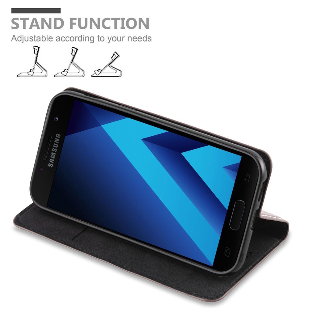Custodia-per-Samsung-Galaxy-A7-2017-Portafoglio-Cover-Case-Magnetica-Libro miniatura 14