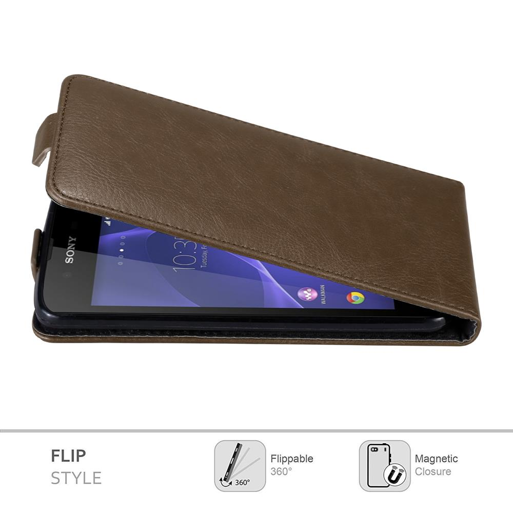 Custodia-per-Sony-Xperia-E3-FLIP-Cover-Protezione-Case-Conchiglia miniatura 16