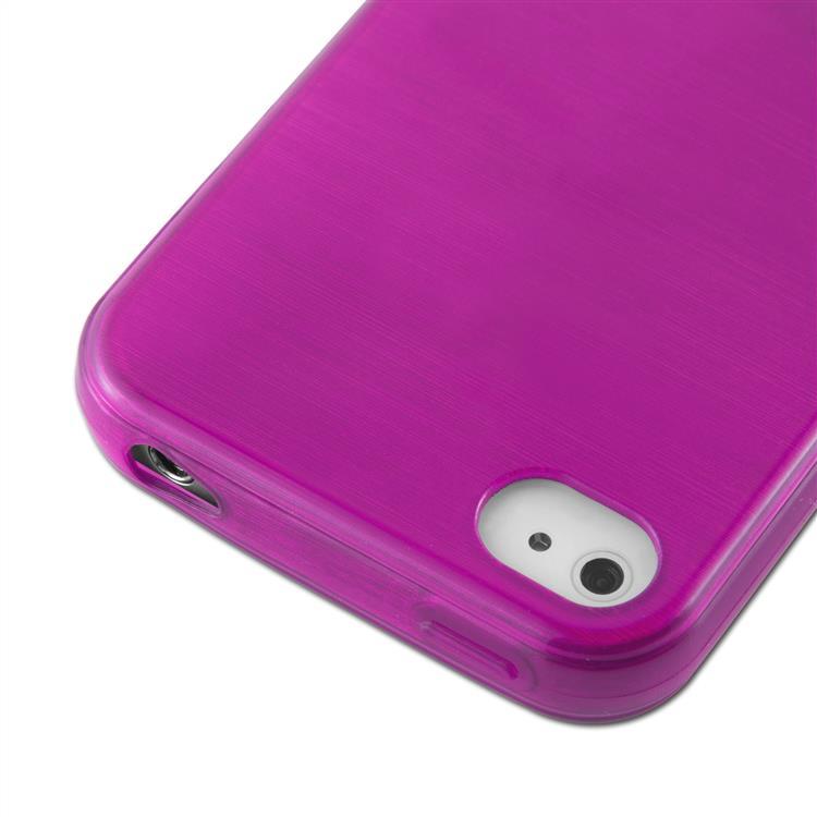 Custodia-Cover-Silicone-per-Apple-iPhone-4-4S-TPU-Case-Effetto-Acciaio miniatura 20