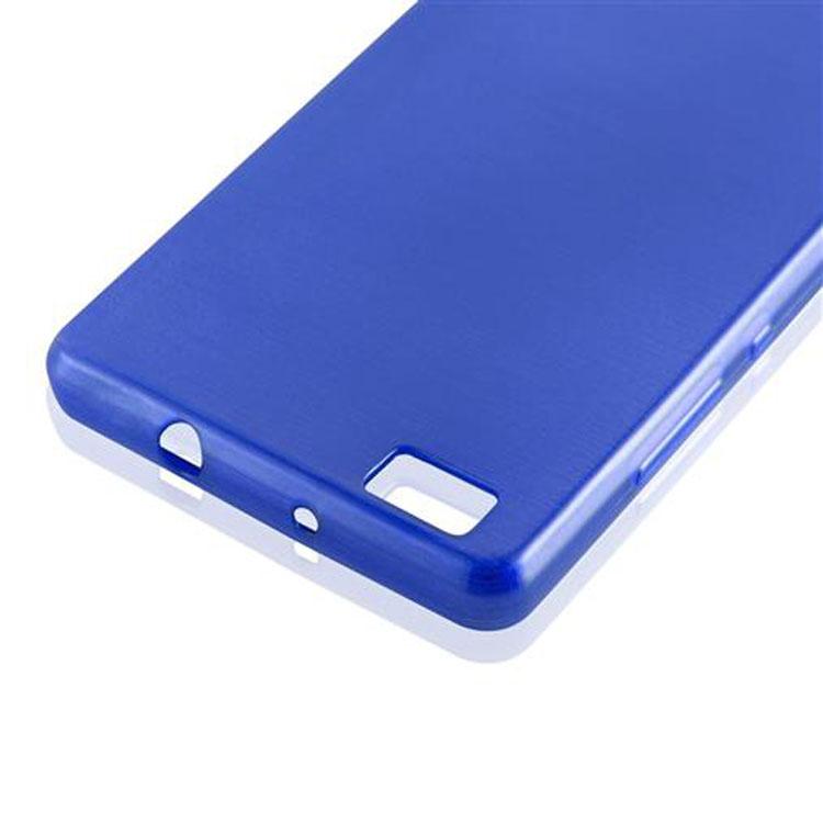 Custodia-Cover-Silicone-per-Huawei-P8-LITE-2015-TPU-Case-Effetto-Acciaio miniatura 38