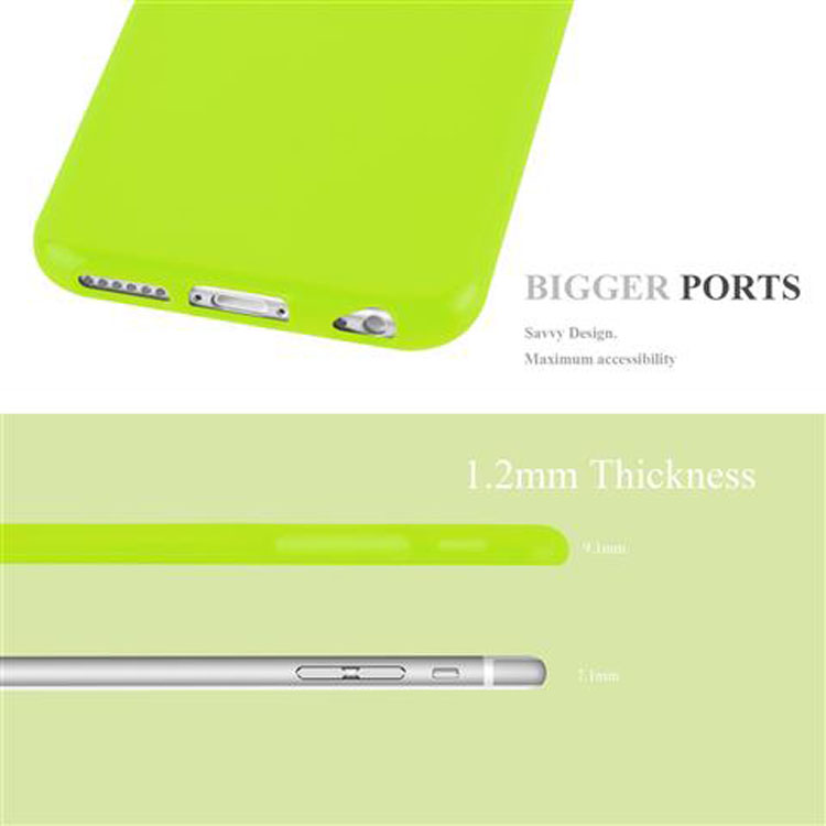 Custodia-Cover-Silicone-per-Apple-iPhone-6-6S-Morbida-TPU-Case miniatura 17