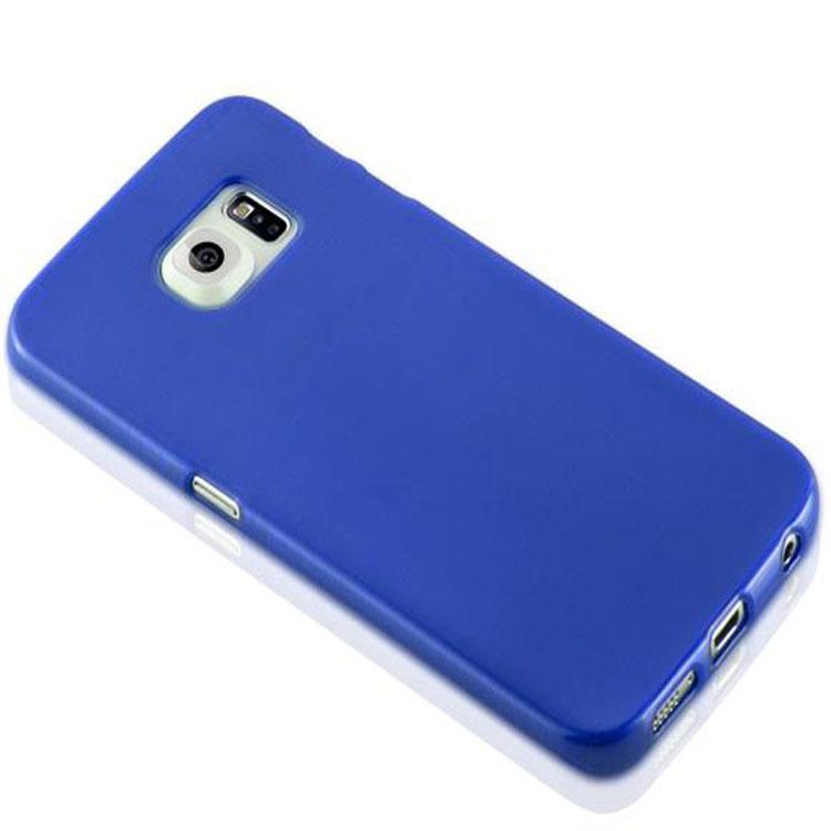 Custodia-Cover-Silicone-per-Samsung-Galaxy-S6-EDGE-TPU-Case-Effetto-Acciaio miniatura 28