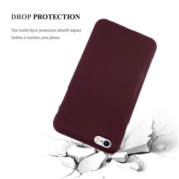 Custodia-Cover-Silicone-per-Apple-iPhone-6-iPhone-6S-TPU-Case-Bumper-Guscio miniatura 24