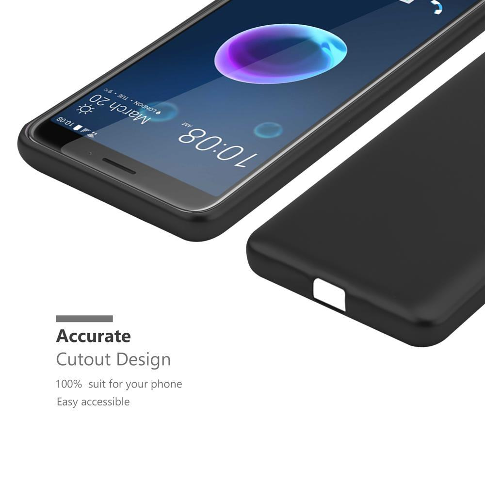 Custodia-Cover-Silicone-per-HTC-Desire-12-TPU-Case-Metallico-Opaco miniatura 7