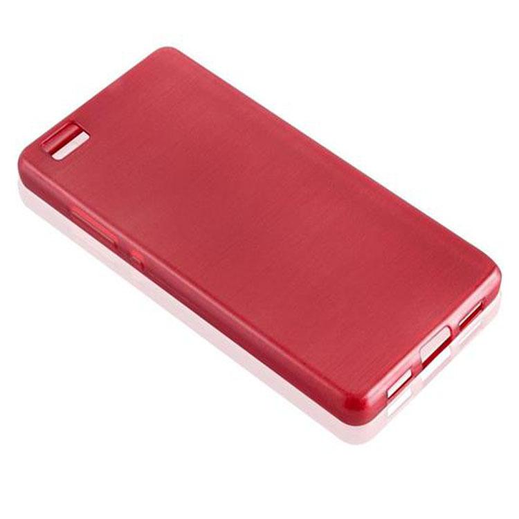 Custodia-Cover-Silicone-per-Huawei-P8-LITE-2015-TPU-Case-Effetto-Acciaio miniatura 30