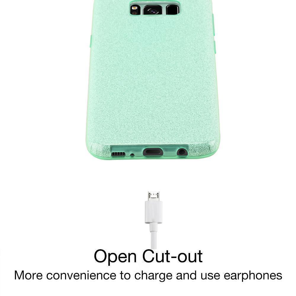 Custodia-Cover-Silicone-per-Samsung-Galaxy-S8-TPU-Case-Glitter miniatura 18