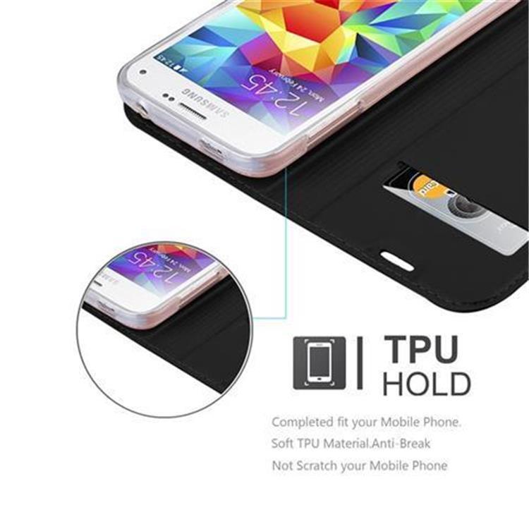 Custodia-Cover-per-Samsung-Galaxy-S5-MINI-DUOS-Metallico-Case-Libro-Portafoglio miniatura 7