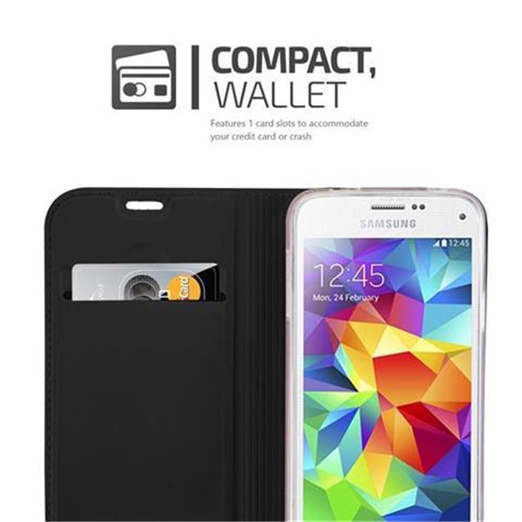 Custodia-Cover-per-Samsung-Galaxy-S5-MINI-DUOS-Metallico-Case-Libro-Portafoglio miniatura 8