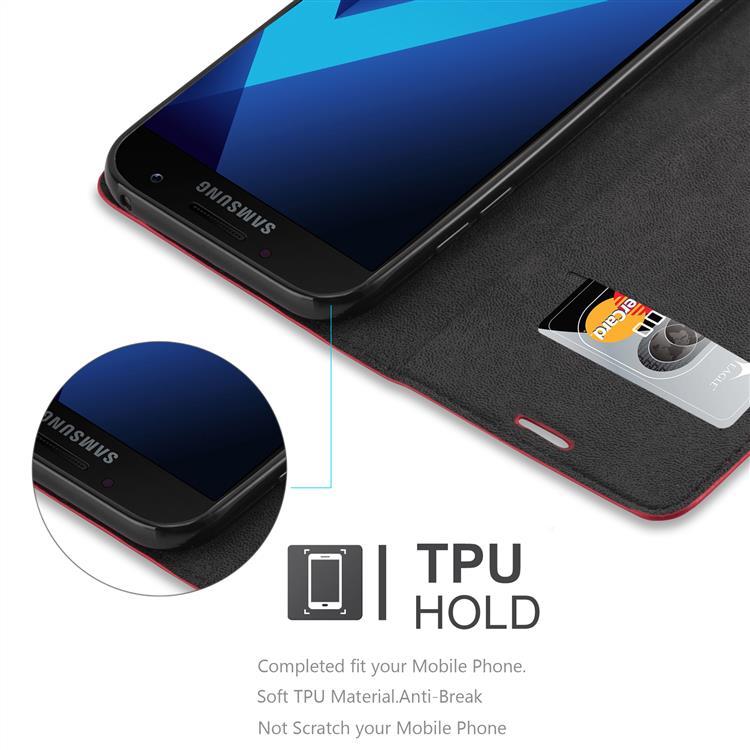 Custodia-per-Samsung-Galaxy-A7-2017-Portafoglio-Cover-Case-Magnetica-Libro miniatura 7