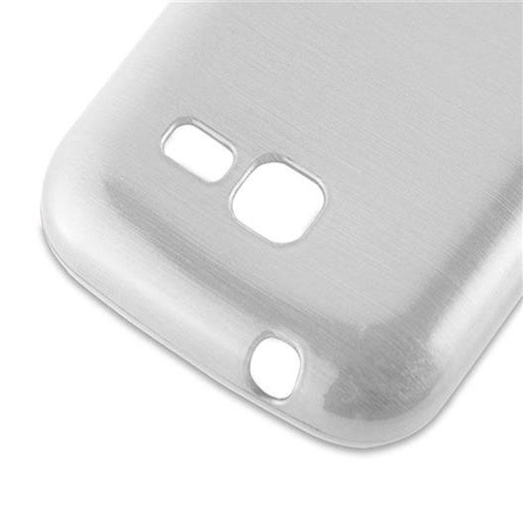 Custodia-Cover-Silicone-per-Samsung-Galaxy-TREND-LITE-TPU-Case-Effetto-Acciaio miniatura 12