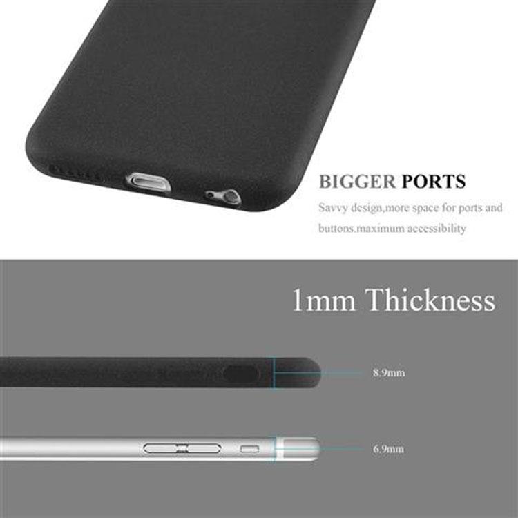 Custodia-Cover-Silicone-per-Apple-iPhone-6-iPhone-6S-TPU-Case-Bumper-Guscio miniatura 9