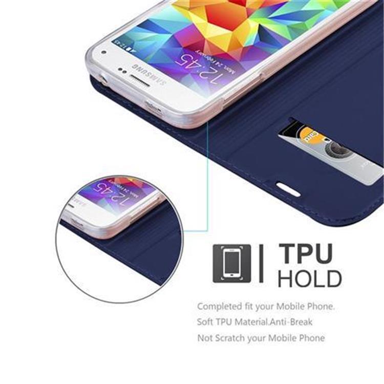 Custodia-Cover-per-Samsung-Galaxy-S5-MINI-DUOS-Metallico-Case-Libro-Portafoglio miniatura 12