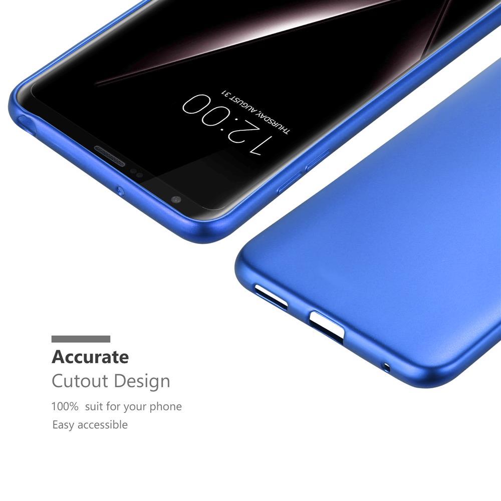 Custodia-Cover-Silicone-per-LG-V30-TPU-Case-Metallico-Opaco miniatura 24