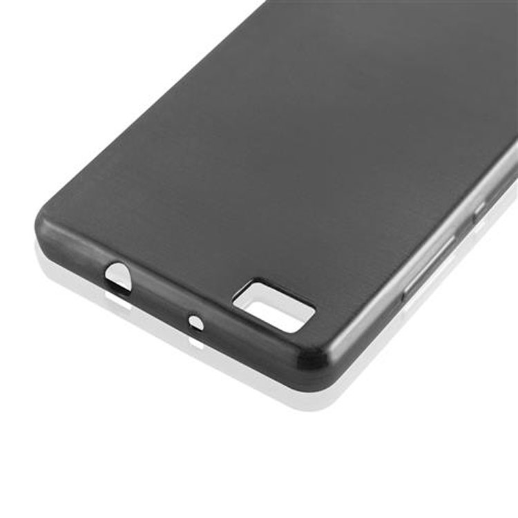 Custodia-Cover-Silicone-per-Huawei-P8-LITE-2015-TPU-Case-Effetto-Acciaio miniatura 6
