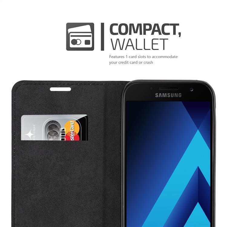 Custodia-per-Samsung-Galaxy-A7-2017-Portafoglio-Cover-Case-Magnetica-Libro miniatura 6