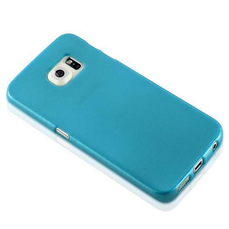 Custodia-Cover-Silicone-per-Samsung-Galaxy-S6-EDGE-TPU-Case-Effetto-Acciaio miniatura 14
