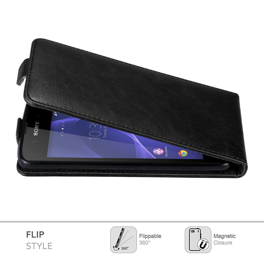 Custodia-per-Sony-Xperia-E3-FLIP-Cover-Protezione-Case-Conchiglia miniatura 11