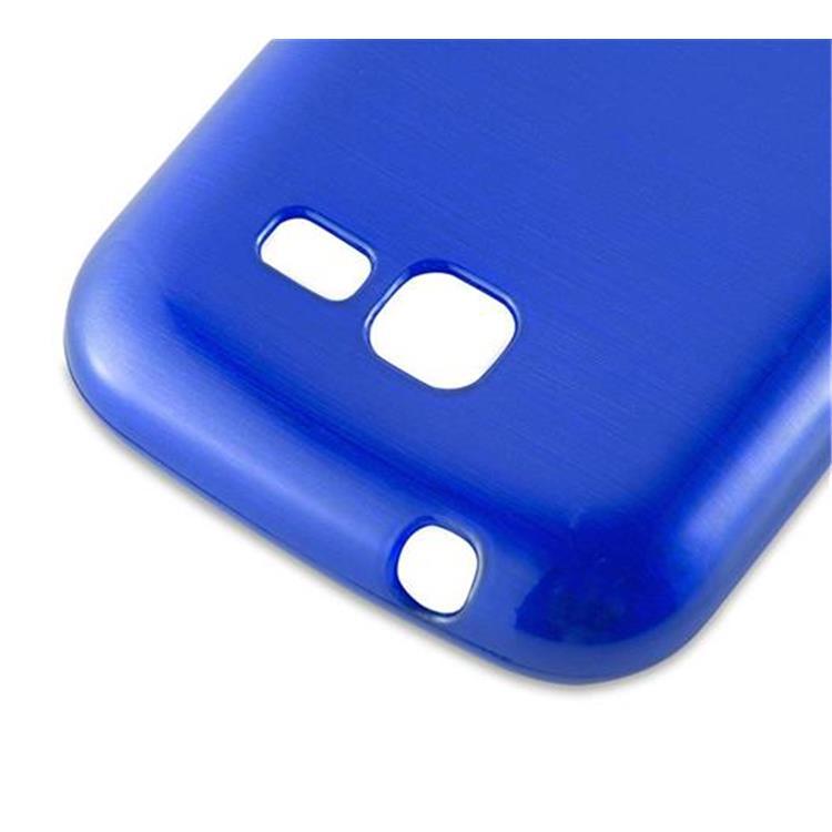 Custodia-Cover-Silicone-per-Samsung-Galaxy-TREND-LITE-TPU-Case-Effetto-Acciaio miniatura 28