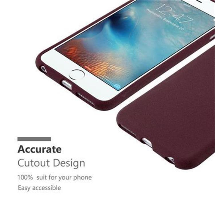 Custodia-Cover-Silicone-per-Apple-iPhone-6-iPhone-6S-TPU-Case-Bumper-Guscio miniatura 21