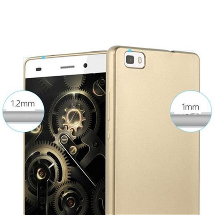 Custodia-Cover-Silicone-per-Huawei-P8-LITE-2015-TPU-Case-Metallico-Opaco miniatura 22