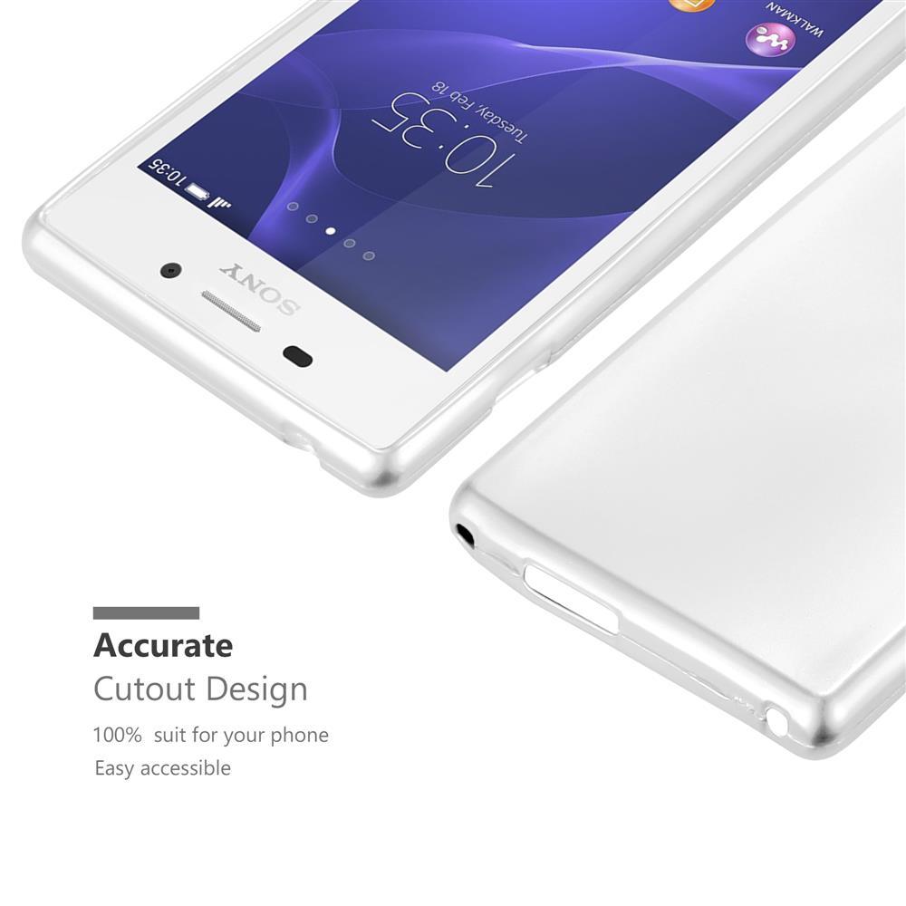 Custodia-Cover-Silicone-per-Sony-Xperia-M2-M2-Aqua-TPU-Case-Metallico-Opaco miniatura 34