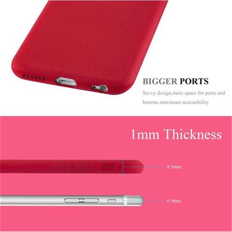 Custodia-Cover-Silicone-per-Apple-iPhone-6-iPhone-6S-TPU-Case-Bumper-Guscio miniatura 14